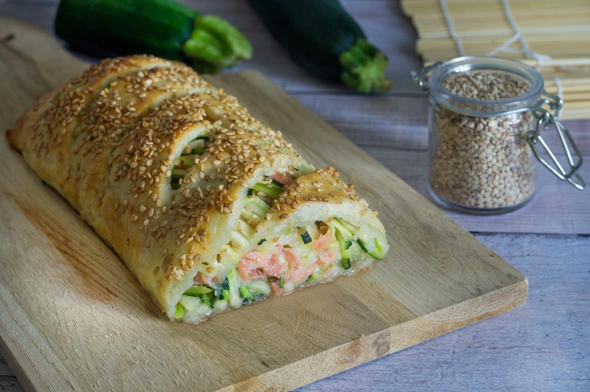 Strudel con Salmone e Zucchine