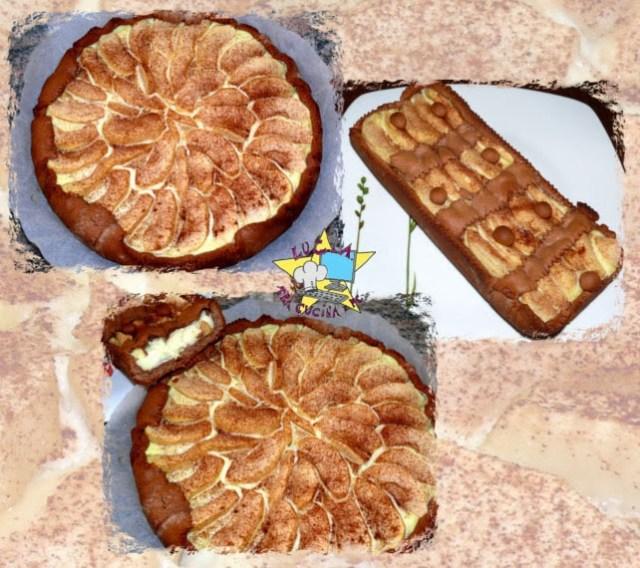 crostate di mele e crema