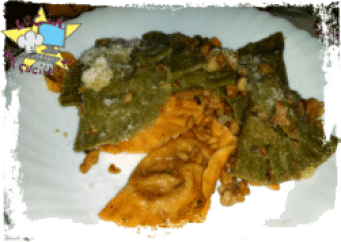 pasta ripiena - Tortelli doppio colore