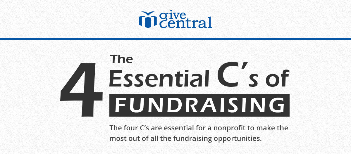 The 4 C's of Fundraising for Nonprofits