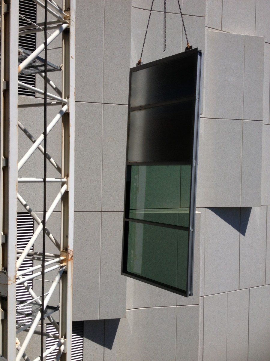 QIMR Curtain Wall Install