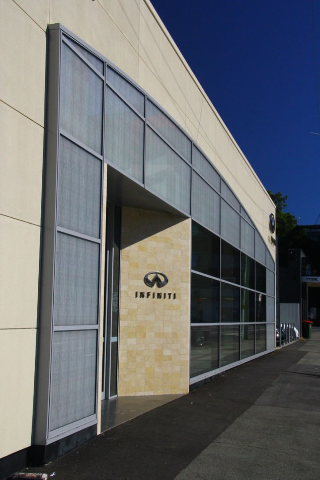 The Infiniti showroom, Fortitude Valley, Brisbane