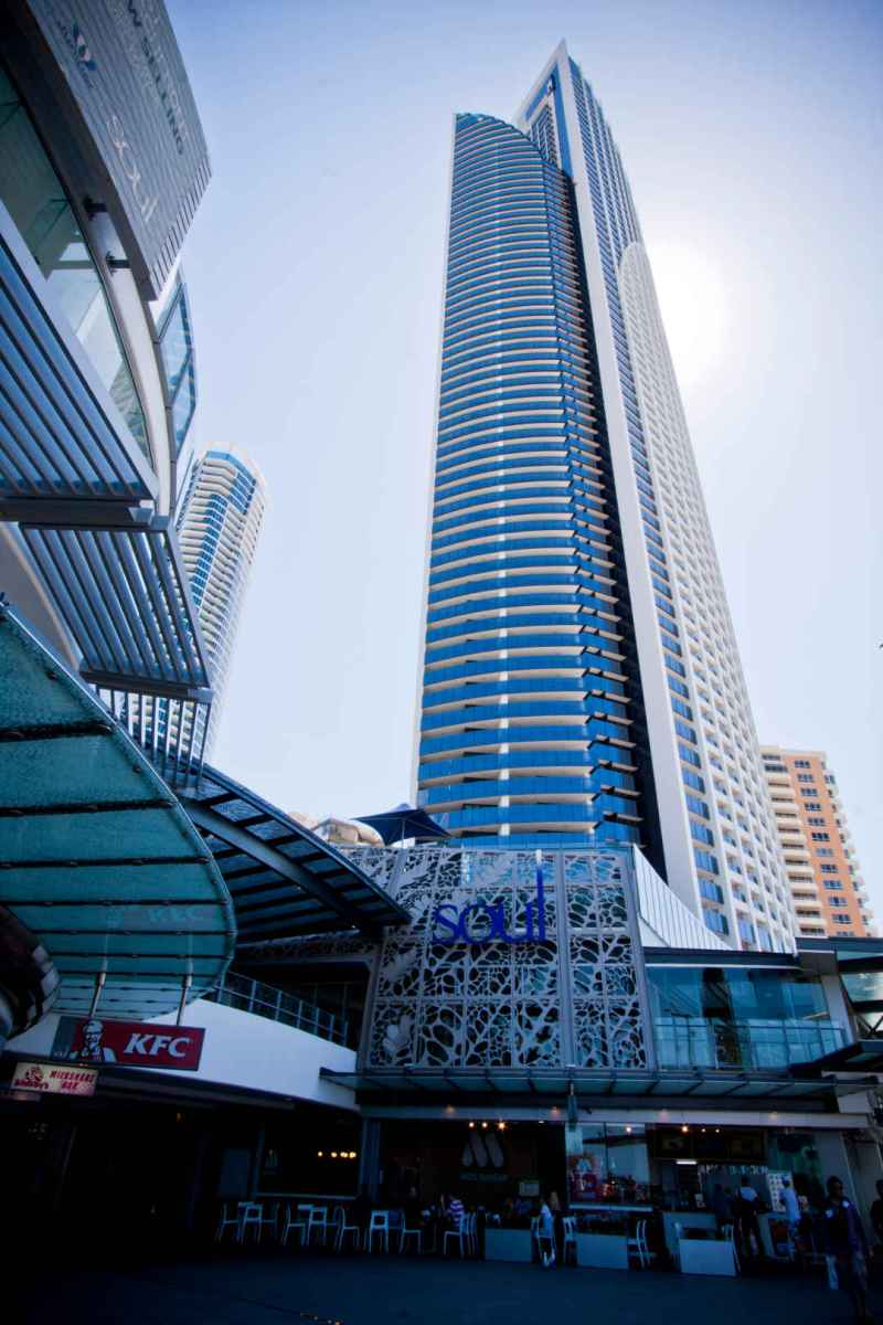 Soul tower, Surfers Paradise - Balustrades, sliding doors and fixed windows