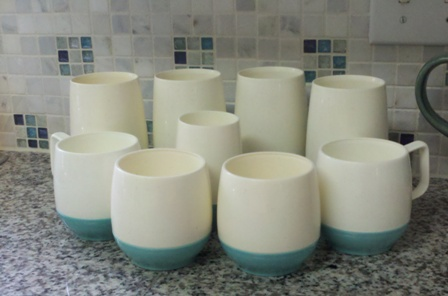 blue-bottomed cups