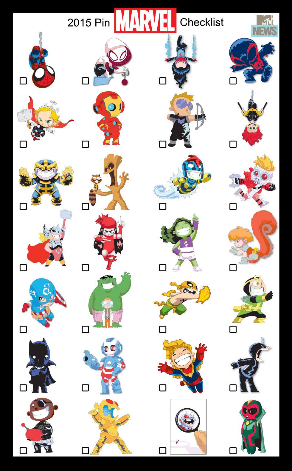 Marvel turns Skottie Young's Art into these Adorable Pins
