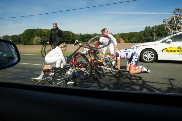 muensterland giro 2013 sturz crash lotto belisol radrennen
