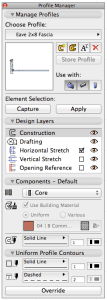 ArchiCAD 17 Profile Manager