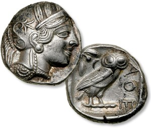 tetradrachm, the Owl coin, world coins, Athens coins , Famous Greek coins