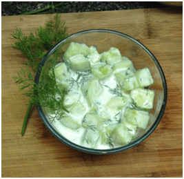 Refreshing cucumber yogurt salad