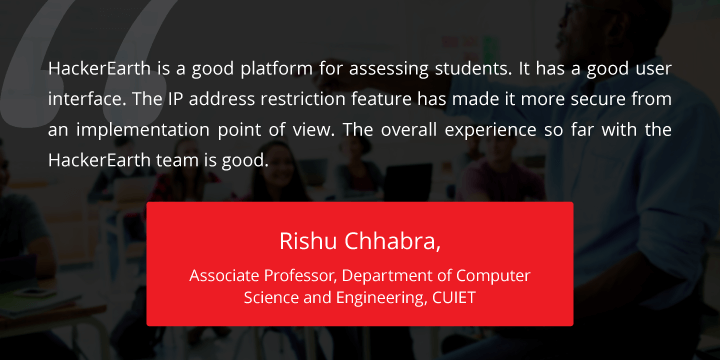 Chitkara, chitkara unviversity, hackerearth case study, case study, college case study, college using technology, assessment, top 50 colleges in India, college, university case study, university in India