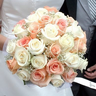 Bouquets De Marie Couleur Pche Happy Chantilly