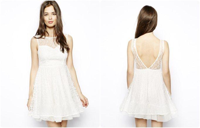 Robes blanches dentelle dos nu sold es happy chantilly - Robe dentelle dos nu ...