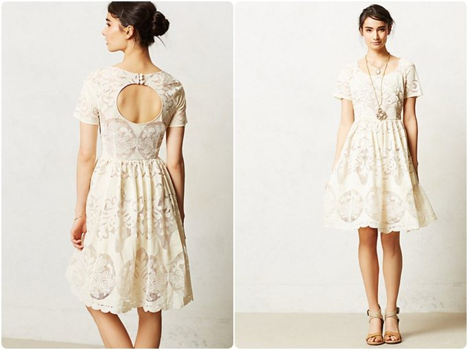 Jolie robe blanche dentelle et dos nu happy chantilly - Dos nu dentelle ...