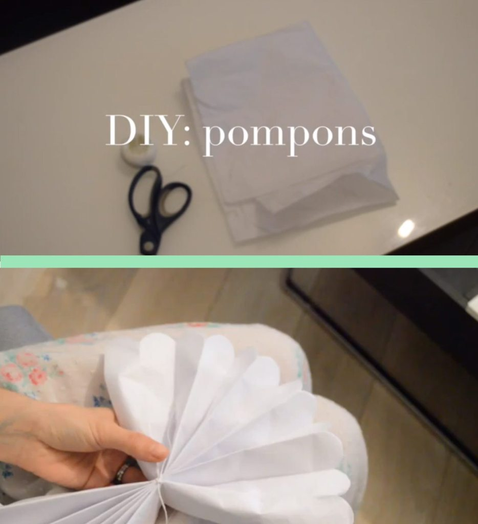 diy pompons papier de soie diy paper pompom happy. Black Bedroom Furniture Sets. Home Design Ideas
