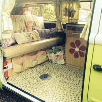 Caravan with Daisy flooring