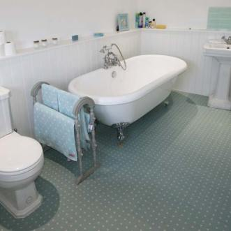 Cath Kidston Spot Blue Floor in a bathroom