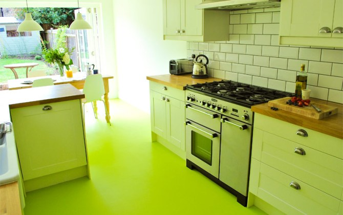 Sam's kitchen in Colours Collection Pistachio Green