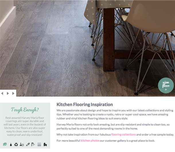 Kitchen Flooring Inspiration page