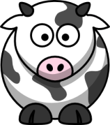 cute cartoon cow - hathix cute animal set