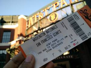 San Francisco Giants ticket