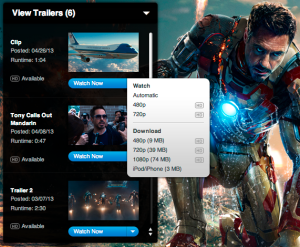 What Happened to the Download Links for Apple Movie Trailers?