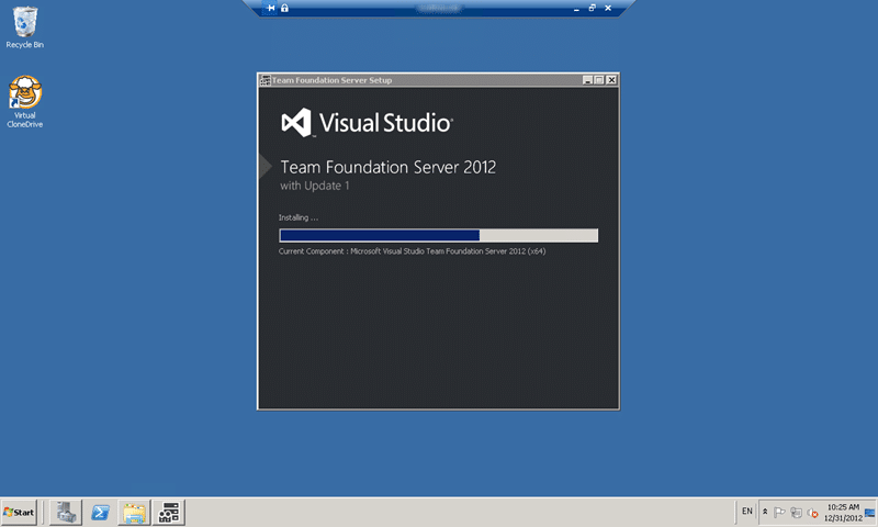 Installing Team Foundation Server 2012 Update 1