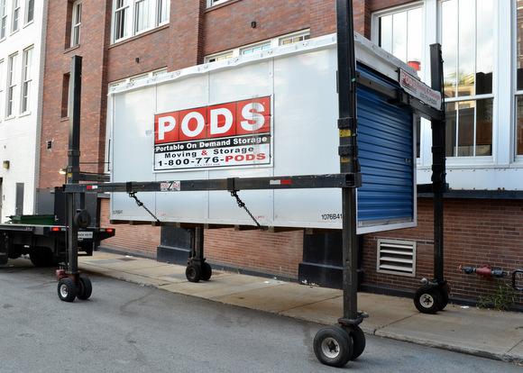Pod in Alleyway