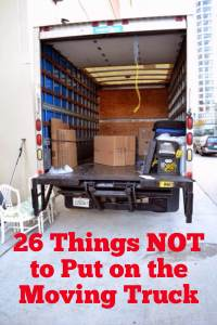 Picture of an Empty Moving Truck