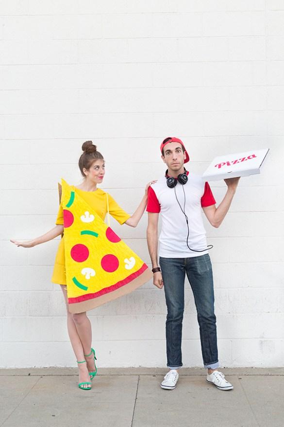 DIY Halloween Costumes - Pizza Slice