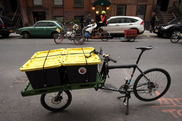 Cargo Bike Used for Moving in NYC