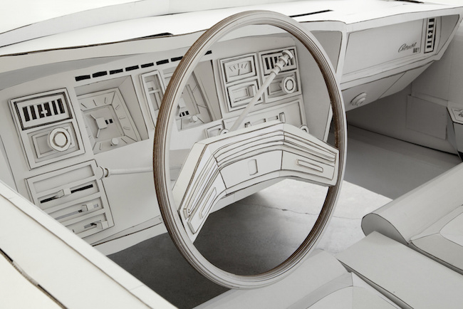 1979 Lincoln Continental cardboard steering wheel