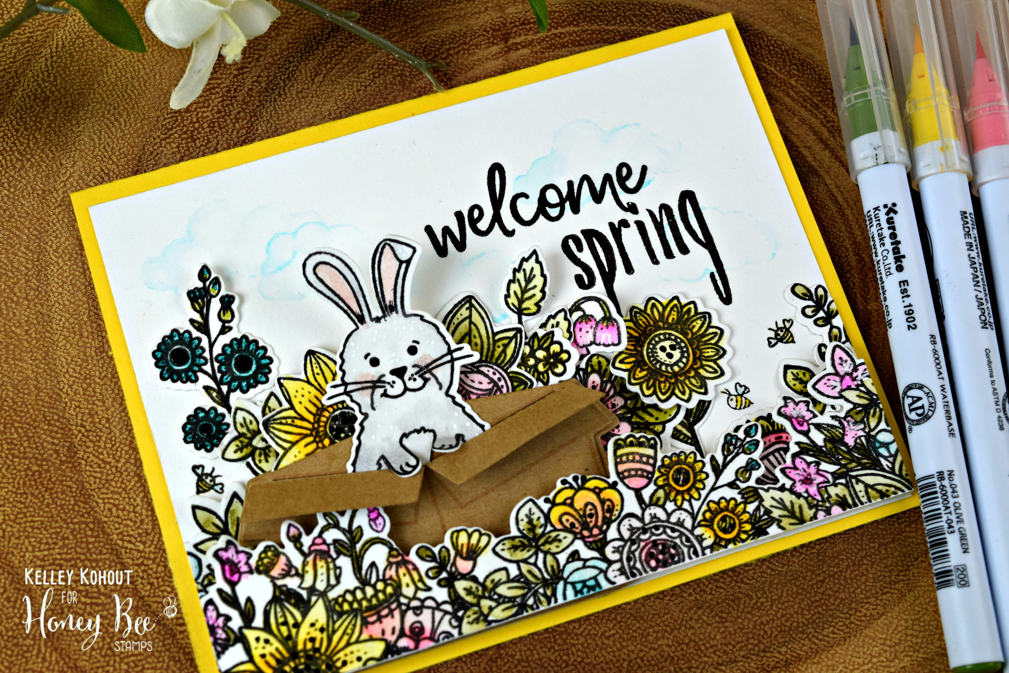 Welcome Spring with Lots of Honey Bee Stamps
