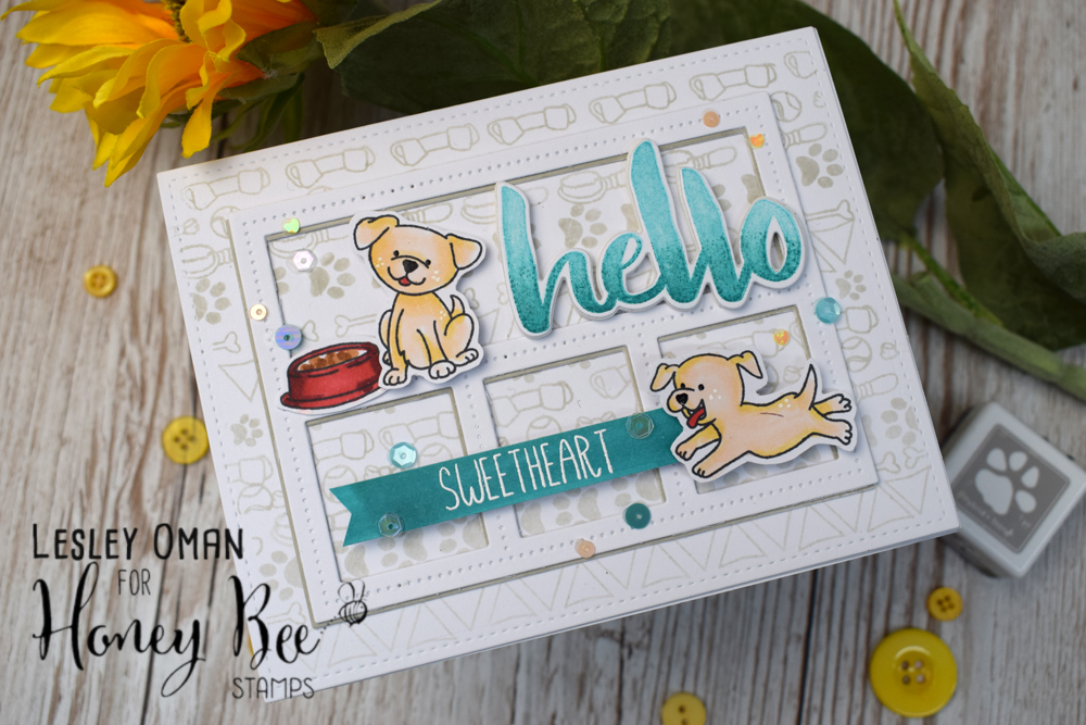 Creating Your Own Patterned Paper Using The Playful Pups Stamps Set