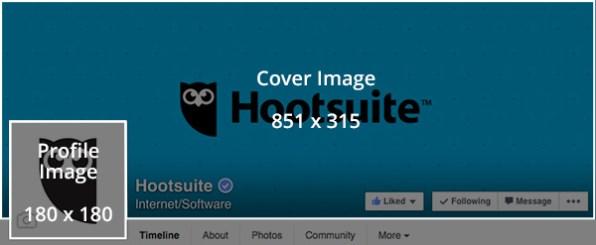 Social media templates - Facebook profile photo template