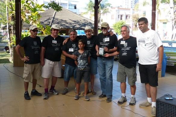 O grupo AGMH recebendo nossa homenagem