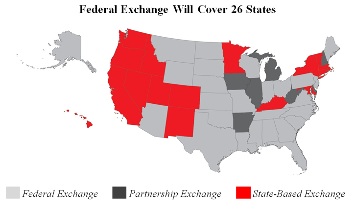 ACA Exchanges Map