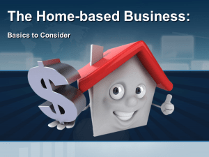 The Home-based Business
