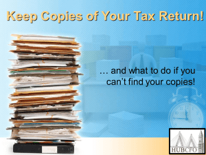 Keep Copies of Your Tax Return