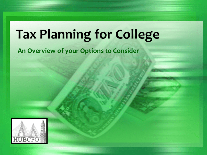 Tax Planning Tricks for College