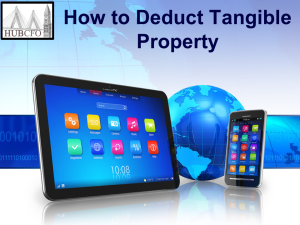 How to Deduct Tangible Property