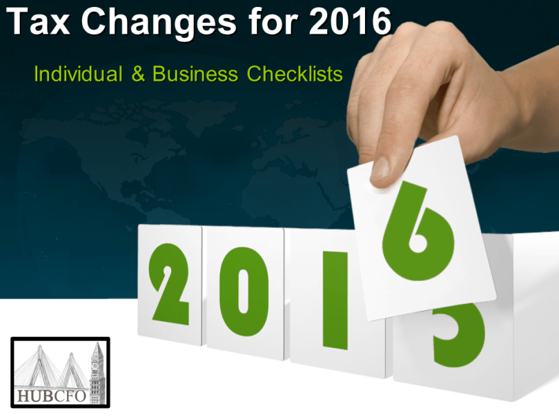 Tax Changes for 2016