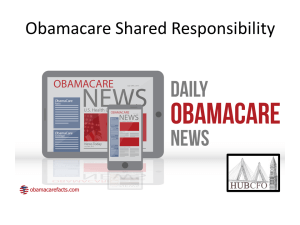 Obamacare Shared Responsibility