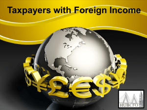 Taxpayers with Foreign Income