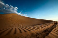 Sand dunes in the Arabian Desert, U.A.E.