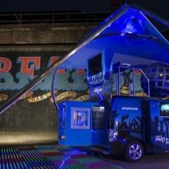 Nissan presenta la discoteca móvil en una furgoneta 100% eléctrica