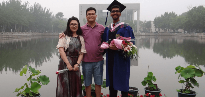 Graduating with a Masters from Nankai University