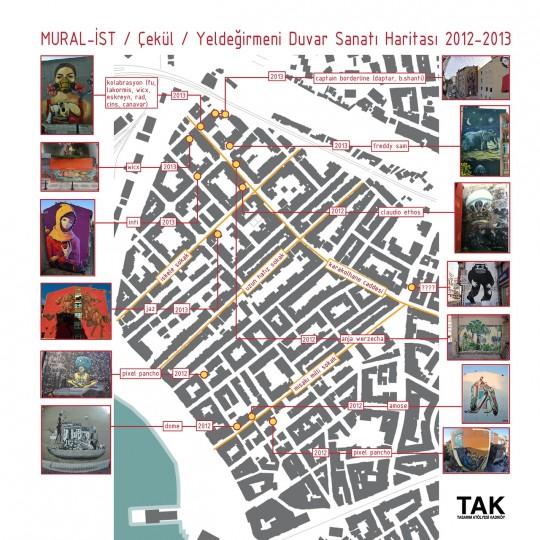 Yeldeğirmeni Murals Map