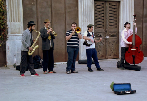 Street musicians at Taksim by Flicker user Kaf-Nun