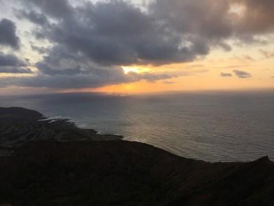 Sunrise at Koko Head Crater.