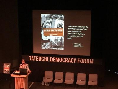 Karen Ishizuka introduces the book and the panel.